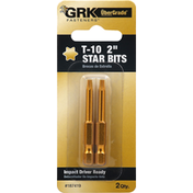 GRK Fasteners Star Bits, T-10, 2 Inches
