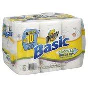 Bounty Basic Paper Towels, Prints, Mega Roll, 2-Ply
