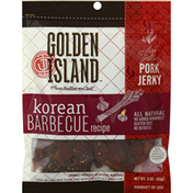 Golden Island Pork Jerky, Korean Barbecue Recipe, Fire-Grilled