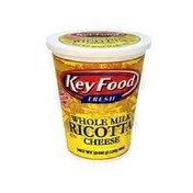 Key Food Whole Milk Ricotta Cheese