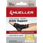 Mueller Ankle Support, 4-Way Stretch, Size SM/MD