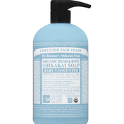 Dr. Bronner's Shikakai Soap, Organic Hand & Body, Baby Unscented