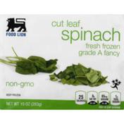 Food Lion Spinach, Cut Leaf, Fresh Frozen, Box