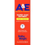 Baby Magic Diaper Rash Ointment, Treat + Prevent, A & E Maximum Strength