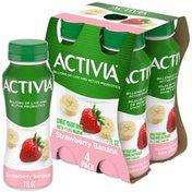 Activia Strawberry Banana Lowfat Yogurt Drink