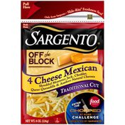 Sargento 4 Cheese Mexican Traditional Cut Shredded Cheese