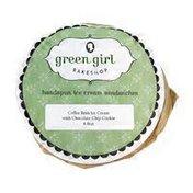 Green Girl Coffee Bean Ice Cream Cookie Sandwich