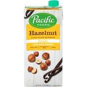 Pacific Unsweetened Vanilla Hazelnut Plant-Based Pacific Foods Unsweetened Vanilla Hazelnut Plant-Based Beverage