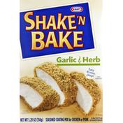 Shake 'N Bake Coating Mix, Seasoned, for Chicken or Pork, Garlic & Herb