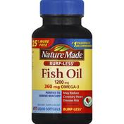 Nature Made Fish Oil, 1200 mg, Burp-Less, Liquid Softgels