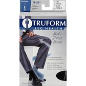 Truform Knee High Socks, Men's Dress, Moderate, Black, Medium