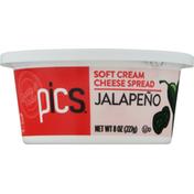 PICS Soft Cream Cheese Spread, Jalapeno