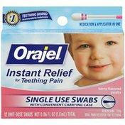 Orajel Teething Berry Flavored Swabs Baby Oral Pain Reliever