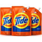 Tide Original Scent HE Turbo Clean Liquid Laundry Detergent, Pack of three
