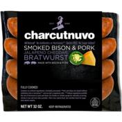 Charcutnuvo Smoked Bison & Pork Jalapeno Cheddar Bratwurst