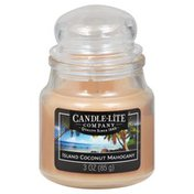 Candle Lite Candle, Island Coconut Mahogany