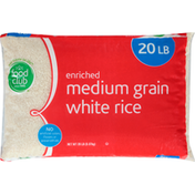 Food Club White Rice, Enriched, Medium Grain