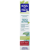 Kiss My Face Toothpaste, Fluoride Free, Triple Action, Cool Mint, Gel