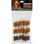 Companion Dog Treats, Triple Flavor Kabobs, Chicken, Beef & Sweet Potato, Card