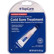 TopCare Cold Sore Treatment, Maximum Strength