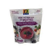 O Organics Triple Berry With Kale Organic Fruit + Veggie Blend For Smoothies