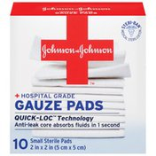 """Red Cross® Johnson & Johnson Small 2"""" X 2"""" First Aid Covers Gauze Pads"""