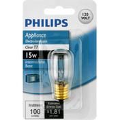 Philips Light Bulb, Appliance, Clear, 15 Watts