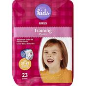 Basics For Kids Training Pants, Girls, Size 3T-4T (32-40 lb)