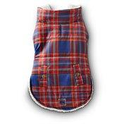 Petco Wag-a-tude Red & Navy Plaid Dog Jacket, Medium