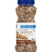 Food Lion Peanuts, Dry Roasted, Lightly Salted, Bottle