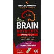 Brain Armor Brain Nutrients, Extra Strength, Daily, Softgel Capsules