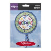 """Anagram Foil Balloon 18"""" Welcome"""
