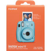 Instax Camera, Instant, Mini 11, Sky Blue
