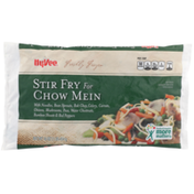 Hy-Vee Freshly Frozen Stir Fry For Chow Mein With Noodles, Bean Sprouts, Bok Choy, Celery, Carrots, Onions, Mushrooms, Peas, Water Chestnuts, Bamboo Shoots & Red Peppers