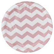 Creative Converting Plates, Chevron-Classic Pink