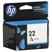 HP Ink Cartridge, Tri-Color 22