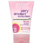 Alba Botanica Sunscreen, Facial, Broad Spectrum SPF 30