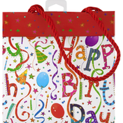 Caspari Gift Bag, Happy Birthday