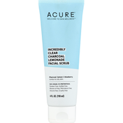 ACURE Facial Scrub, Incredibly Clear, Charcoal Lemonade