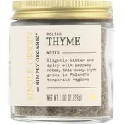 Simply Organic Thyme, Polish