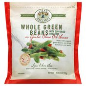 Lisas Organics Green Beans, Whole, with Sun-Dried Tomatoes, in Garlic Olive Oil Sauce