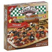 Ginos East Pizza, Gourmet Flatbread, Fiesta Beef