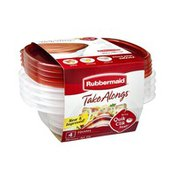 Rubbermaid Take Alongs Square Containers with Lids - 4 CT