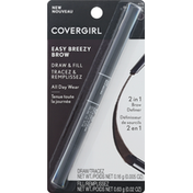 CoverGirl Brow Definer, 2 in 1, Easy Breezy Brow, Rich Brown 400