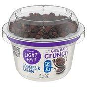 Light + Fit Nonfat Cookies & Cream Crunch Greek Yogurt