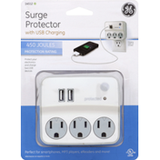 GE Surge Protector, with USB Charging