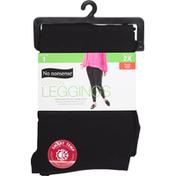 No nonsense Leggings, Black, Cotton, 2X Plus Size