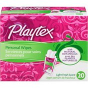 Playtex Personal Cleansing Cloths, Light Fresh Scent