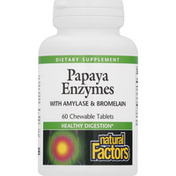 Natural Factors Papaya Enzymes, Chewable Tablets