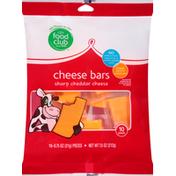 Food Club Cheese Bars, Sharp Cheddar